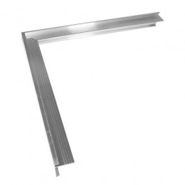 Dakrandprofiel aluminium buitenhoek 35x28 mm